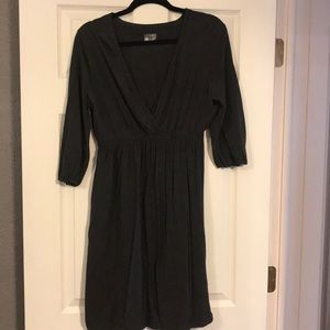 Dark gray mini dress